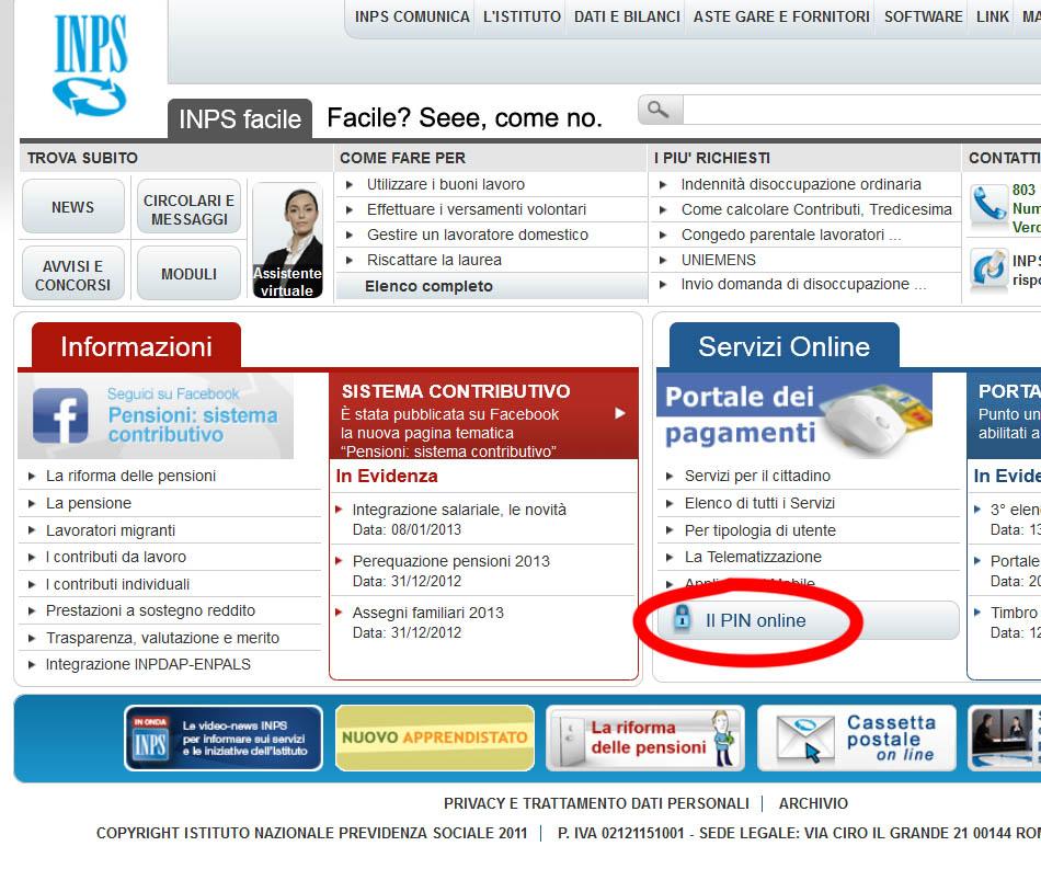 inpdap servizi online per il cittadino quali sono e come On inps online servizi per il cittadino