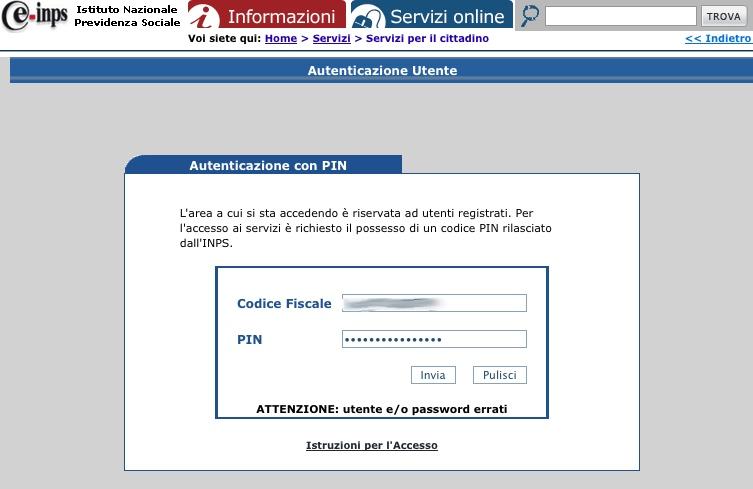 accesso area riservata ex inpdap e ricerca servizi online